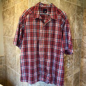 Quicksilver Button Up Men's Plaid Shirt size Large